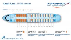 Аэробус А319 Аэрофлот схема салона