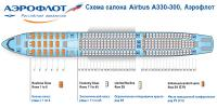 Аэробус А330-300 схема салона Airbus A330-300 Аэрофлот
