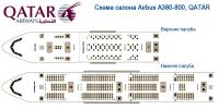 Аэробус А380-800 схема салона Airbus A380 QATAR
