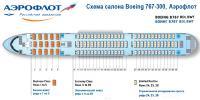 Боинг 767-300 схема салона Boeing 767-300 Аэрофлот BDI, BWT