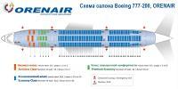Боинг 777-200 схема салона Boeing 777-200 ORENAIR