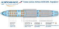 Аэробус А330-200 схема салона Airbus A330-200 Аэрофлот
